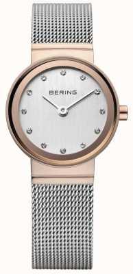 Bering Женские классические розовые золотые тональные часы 10126-066