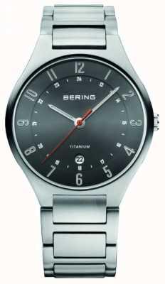 Bering Мужские титаны, черные циферблатные часы 11739-772