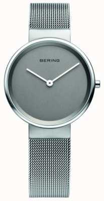 Bering Женская классика, сетка, серый циферблат, стальные часы 14531-077