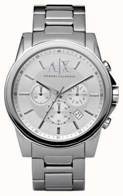 Armani Exchange Мужской хронограф из серебристой стали AX2058