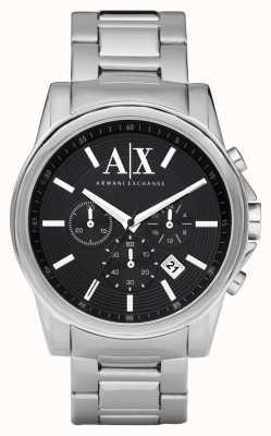 Armani Exchange Мужская элегантная нержавеющая сталь хронограф черный циферблат AX2084