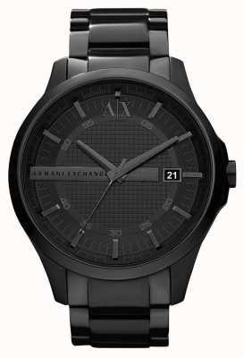 Armani Exchange Mens smart black pvd с покрытием из нержавеющей стали AX2104