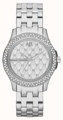 Armani Exchange Кристалл браслет из нержавеющей стали AX5215