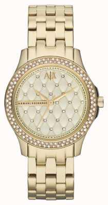Armani Exchange Серебряный браслет с бриллиантами AX5216