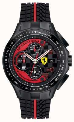 Scuderia Ferrari Мужской день гонки, черный, резиновый ремешок 0830077
