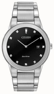 Citizen | аксиома эко-драйв для мужчин | черный бриллиант циферблат | AU1060-51G