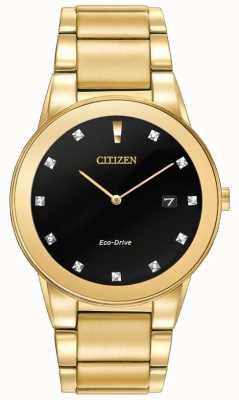 Citizen | мужская аксиома эко-драйв | алмазный набор черный циферблат | AU1062-56G
