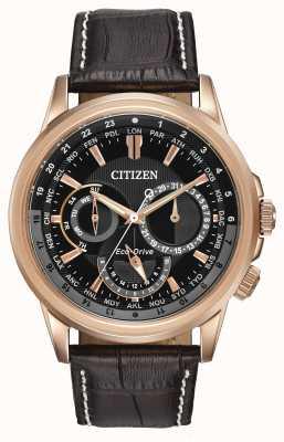 Citizen Мужские календулярные розовые тональные часы с эко-хронографом BU2023-04E