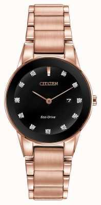 Citizen Женская аксиома позолоченный эко-диск GA1058-59Q