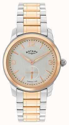 Rotary Кембриджские мужские двухцветные часы GB02701/01