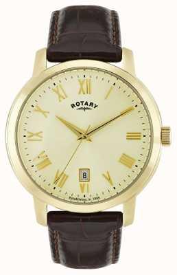 Rotary Мужские слоновые золотые тональные часы GS02462/03
