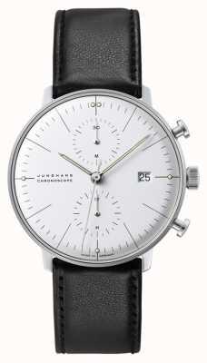 Junghans Макс Билл хроноскоп | автоматический | черный кожаный ремешок 027/4600.04