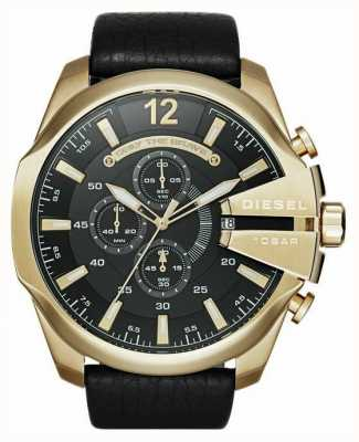 Diesel Мужские мега-золотые часы с хронографом DZ4344