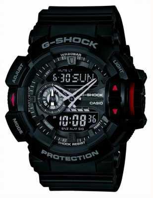 Casio Часы мужские g-shock черные хронографы GA-400-1BER