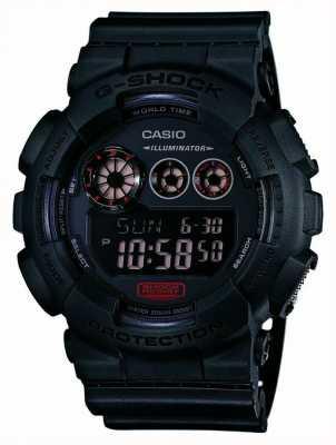 Casio Mens g-shock матовый черный ремень GD-120MB-1ER