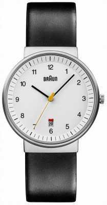Braun Мужские все белые черные часы BN0032WHBKG