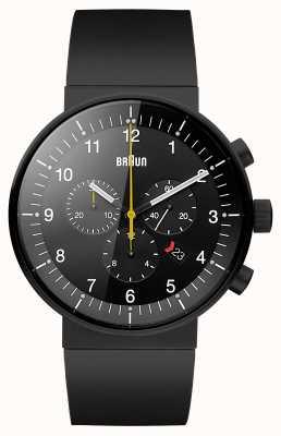 Braun Мужские часы черного хронографа BN0095BKBKBKG