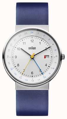 Braun Мужские классические часы с двойным временем BN0142WHBLG