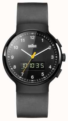 Braun Черные классические анальные часы Гента BN0159BKBKG