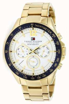 Tommy Hilfiger Мужские часы Люка   чехол для пвд   золотой ремешок из нержавеющей стали   1791121