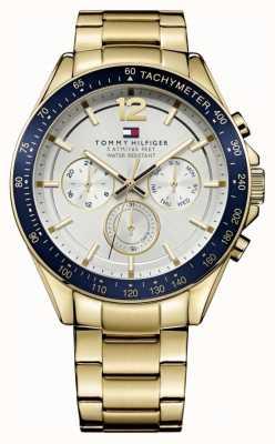Tommy Hilfiger Мужские часы Luke | чехол для пвд | золотой ремешок из нержавеющей стали | 1791121
