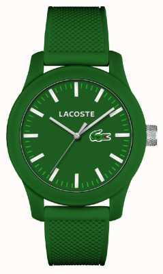 Lacoste Мужская 12.12 зеленый силиконовый ремешок зеленый циферблат 2010763