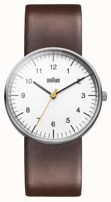 Braun Мужские белые коричневые часы BN0021WHBRG