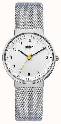 Braun Женские часы | ремешок из нержавеющей стали | белый циферблат | BN0031WHSLMHL