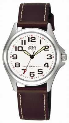 Lorus Кожаный ремень спортивные часы RRS51LX9