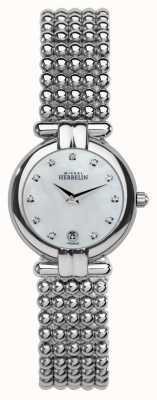 Michel Herbelin Женская стальная перла, хрусталь, жемчужный циферблат 16873/B59