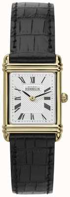 Michel Herbelin Женская кожаный ремешок для золотого тона 17478/P08