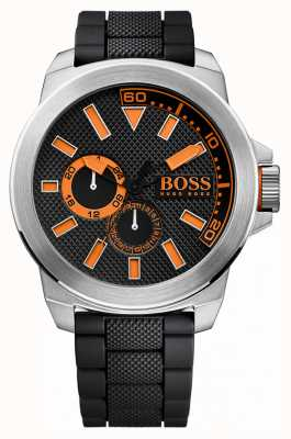 Hugo Boss Orange Мужская нержавеющая сталь, черный ремешок 1513011