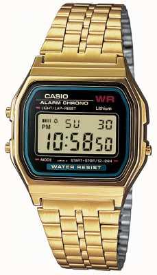 Casio Mens цифровой ретро позолоченный A159WGEA-1EF