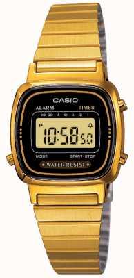Casio Женский цифровой браслет в стиле ретро с позолотой LA670WEGA-1EF