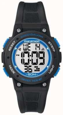 Timex Марафон цифровой черный резиновый ремешок синий TW5K84800