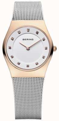 Bering Женская нержавеющая сетка из пвх из розового золота 11927-064