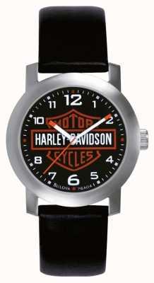 Harley Davidson Мужские черные кожаные ремешки 76A04