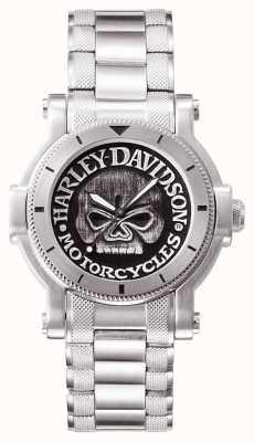 Harley Davidson Мужская воля g черепа наручные часы 76A11