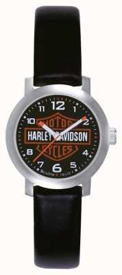 Harley Davidson Женские черные кожаные ремешки 76L10