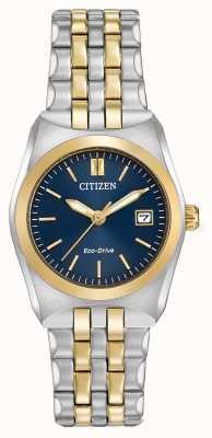Citizen Женский eco-drive corso wr100 два тона EW2294-53L