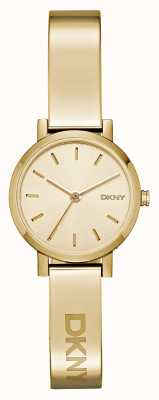DKNY Womens soho pvd gold plate круглый циферблат NY2307