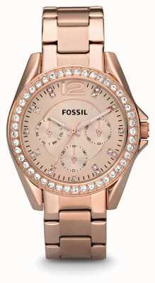 Fossil Женские рили розового золота pvd покрыты ES2811
