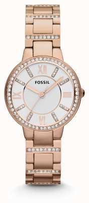 Fossil Женская виргиния розовое золото pvd ES3284