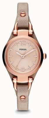 Fossil Женская грузия розовая золотая pvd покрытая кожа ES3262