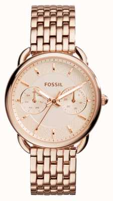 Fossil Женское портное розовое золото pvd покрыло ES3713