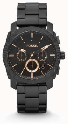 Fossil Машинная машина черного цвета pvd FS4682