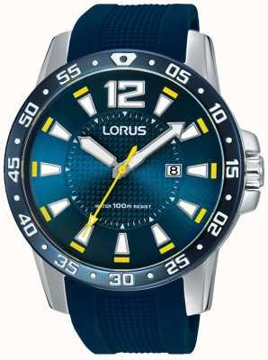 Lorus Мужской синий резиновый ремешок синий циферблат RH935FX9