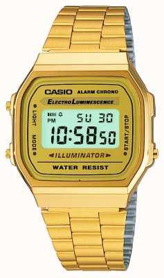 Casio Ретро-коллекция из унисекса позолоченная A168WG-9EF