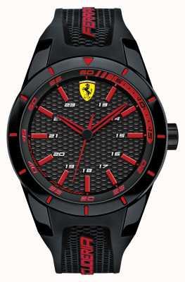 Scuderia Ferrari Красный черный черный силиконовый ремешок черный красный циферблат 0830245