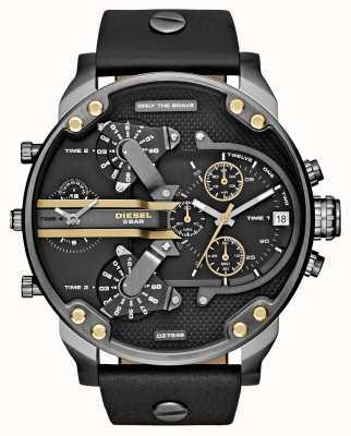 Diesel Mens mr daddy 2.0 черный кожаный хронограф DZ7348